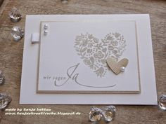 Stampin + Up + Tanjas + Kreative Ecke + Hochzeit + × - Ruby anniversary gifts - Wedding Cards Handmade, Greeting Cards Handmade, Fun Wedding Invitations, Birthday Invitations, Wedding Shower Cards, Card Wedding, Stampin Up, Engagement Cards, Wedding Anniversary Cards