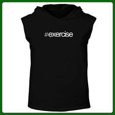 Idakoos - Hashtag Exercise - Hobbies - Hooded Sleeveless T-Shirt - Workout shirts (*Amazon Partner-Link)