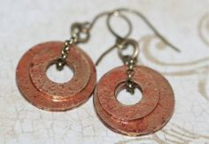 Round brass washers Gilders paste Craft glaze Antiqued brass chain Jump rings Earring wires
