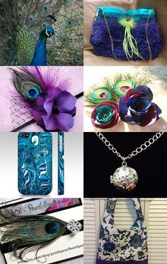 Peacock Paradaiso by Regina Fernandez on Etsy--Pinned with TreasuryPin.com