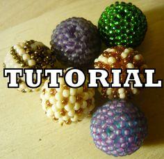 Beaded Balls - Kulki koralikowe [TUTORIAL] | Qrkoko.pl