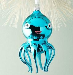 Could Miss Octopus be possibly more chic and glamorous? Ornament from Horchow, made in Italy from glass. Shop here: https://www.facebook.com/CoastalBeachBlissLiving/photos/a.128908803835246.19702.128847517174708/1015799805146137/?type=3&theater