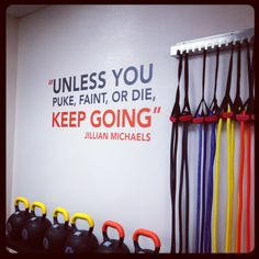 This Jillian Michaels wall quote was just added to the PCG gym. I personally think it should go in my dance studio.