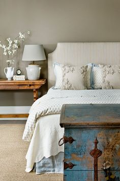 For the ultimate relaxation space, we love this bedroom from Barbara Westbrook's Gracious Homes.