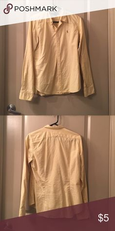 Yellow Ralph Lauren Button Down Clearing closest - all items available until September 15th. Ralph Lauren Tops Button Down Shirts