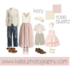 Rose Quartz + Ivory // Family Outfit by katelphoto on Polyvore featuring Alice + Olivia, J.Crew, Soludos, PS Paul Smith, Private White V.C., SoHo Cobbler, ASOS, STONE ISLAND and Sperry
