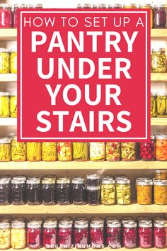 How to set up a pantry under stairs food storage system. A pantry organization idea that helps you make the most of unused space. Declutter and organize your under the stairs closet as a food storage pantry. #Organizing #MealPrep #organizingmoms Pantry Inventory, Pantry Organization, Closet Rod, Closet Storage, Closet Under Stairs, Plastic Shelves, Organized Mom, Try To Remember, Time Management Tips