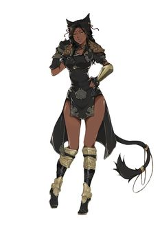 My mother - (Andarthia) Fierce and powerful. Led the rest of her pack out of terror in the midst of the war between hybrids and humans. Fought and gained some territory where humans could never find us in the real world again.. Black Anime Characters, Dnd Characters, Fantasy Characters, Female Characters, Anime Sexy, Female Character Design, Character Design Inspiration, Character Art, Fantasy Women