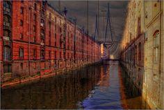 Bilderwelten Paintpictures - Fleetfahrt Hamburg