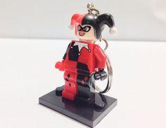 BOGO Buy 1 Get 1 Promo! Lego® Harley Quinn of Batman Keychain, Lego Superhero Keychain, FREE Lego® Minifigure Keychain Party Favors Gift on Etsy, $12.00