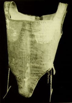 Pair of Bodies (Corset), 1598, German, Bayerisches Nationalmuseum http://www.bayerisches-nationalmuseum.de