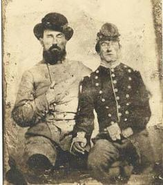 James D. Whatley and an unidentified soldier, C.S.A. Whatley served as a private in Company B of the 23rd Alabama Infantry.
