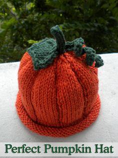 Perfect Pumpkin Hat Knitting Pattern
