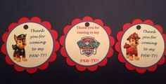 Paw Patrol Thank You Tags Birthday Favor Tags #Disney #BirthdayChild