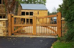 entrance gates for driveways | Link Oak Tree Driveway Entrance Gate Pic #23