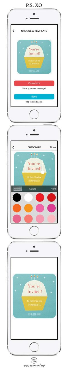 Design. Invite. Shop. Learn. Your next party just got a whole lot easier with the P.S. XO app! #psxo