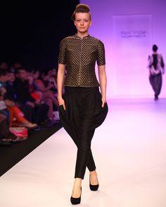 Gold & Black Sherwani top with Jodhpuri Pants - Buy Payal Singhal