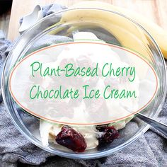 Vegan Cherry Chocolate Ice Cream - Brandi Logan - Beyond Binary Plant Based Snacks, Plant Based Eating, Plant Based Recipes, Cherry Desserts, Vegan Desserts, Vegan Recipes, Dessert Recipes, Dairy Free Ice Cream, Vegan Ice Cream