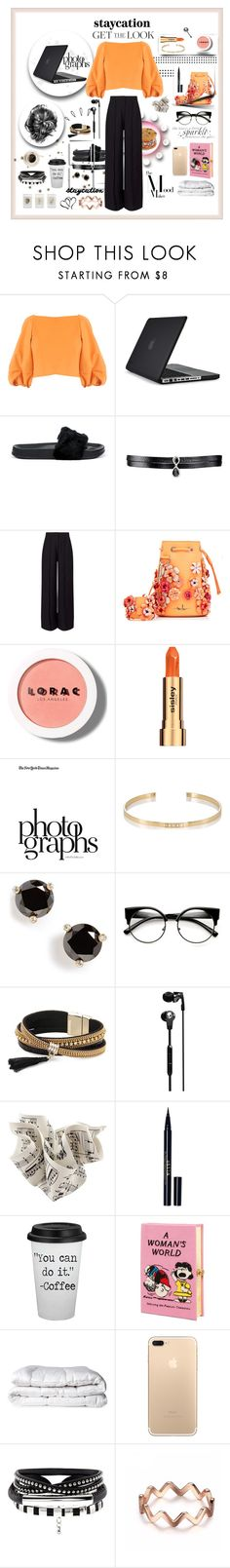 """staycation💅💭"" by olivia204 ❤ liked on Polyvore featuring TIBI, Speck, Puma, Fallon, Miss Selfridge, Marina Hoermanseder, LORAC, Sisley, Valentino and Ileana Makri"