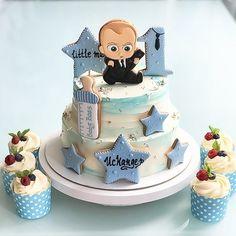 Birthday Wishes Cake, Baby Boy 1st Birthday Party, Baby Birthday Cakes, Baby Boy Cakes, Cakes For Boys, Baby Shower Cakes, 1st Birthday Decorations, Fake Cake, Cake Boss