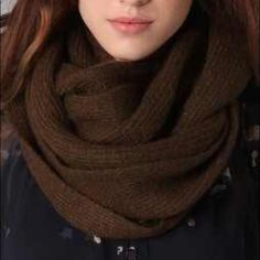 Club Monaco brown thick infinity scarf Cozy and stylish infinity scarf from club Monaco. Supersoft. Flecks of metallic thread throughout.  24% mohair 36% acrylic 36% nylon 4% other fiber. Gently used and in perfect condition. No snags, holes, or tears. Just in time for winter! Club Monaco Accessories Scarves & Wraps
