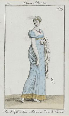 via Flickr. Costume Parisien ca 1800
