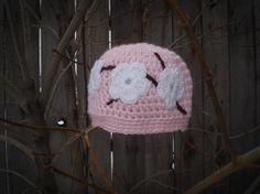 Crocheted Cherry Blossom Hat Pattern via Craftsy