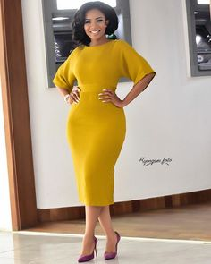 Serwaa Amihere Style: 15 Work Outfit Ideas From The Beautiful GHOne TV Presenter Check our 15 Serwaa Amihere styles that you can copy for your workplace outfits. She's chick, beautiful and got style. Stylish Dresses, Elegant Dresses, Sexy Dresses, Dress Outfits, Casual Dresses, Dresses For Work, Fashion Outfits, Work Outfits, Summer Dresses