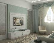 Гостиная в классическом стиле. Прекрасный вариант в нежно-бирюзовых оттенках. Автор проекта: Мария Трифанова. #дизайнинтерьера #igenplan #дизайнгостиной #интерьергостиной  #гостиные