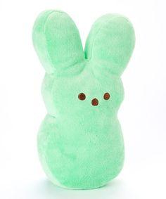 Loving this Green Peeps Bunny Medium Plush Toy on #zulily! #zulilyfinds