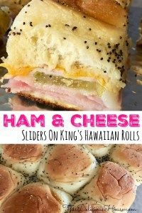 Pull Apart Ham and Cheese Sliders made with King's Hawaiian Rolls. Delicious and easy appetizer or party food. Great party food or quick weeknight dinner recipe. Yummy Appetizers, Appetizers For Party, Ham Cheese Sliders, Ham And Cheese Toastie, King Hawaiian Rolls, Make Ahead Brunch, Slider Recipes, Sandwich Recipes, Salads