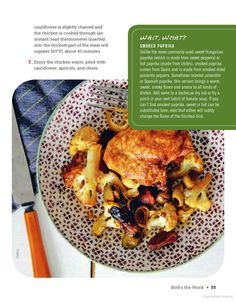 ... Molly Gilbert Curried Chicken with cauliflower, apricots, and olives