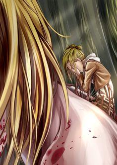 Annie Shingeki no Kyojin ( Attack on Titan). No. Dude no. Dude NO