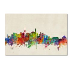 Beijing China Skyline by Michael Tompsett Graphic Art on Wrapped Canvas