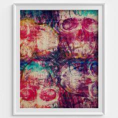 Grunge Skulls by Russ #skull #skulls #skullart