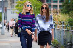 New York Fashion Week SS 2016 Street Style: Jessica Minkoff and Mallory Schlau