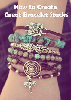 diy Bracelet Stacks | DIY BOARDS / How to Mix and Match Bracelets to Create Great Bracelet ...