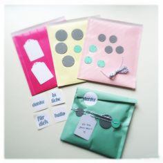 Geschenk-Packaging-Set in Sommerfarben
