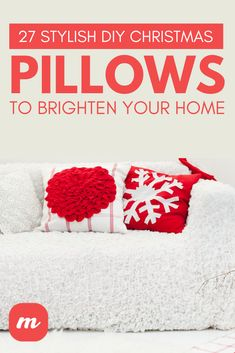 27 Most Stylish DIY Christmas Pillows For your Holiday Home Diy Home Decor Projects, Fun Projects, Decor Crafts, Easy Crafts, Crafts For Kids, Christmas Pillow, Christmas Diy, Christmas Decorations, Holiday