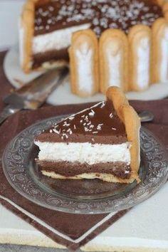 Dessert Recipes Easy Quick - New ideas Mini Desserts, Sweet Desserts, Summer Desserts, Charlotte Cake, Cake Recipes, Dessert Recipes, Vegan Dishes, Chocolate Recipes, Love Food