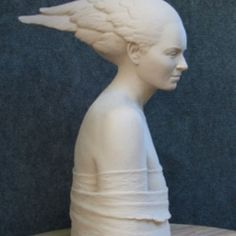 """Muse"" bronze, ed. of 9 -- 19.5 x 12.5 x 15"" (shown in clay) -- website contact in Profile"