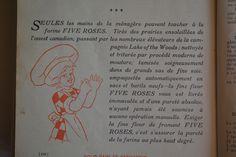 Dans l'édition de 1915 de La cuisinière Five Roses « Seules les mains de la ménagère peuvent toucher à la farine Five Roses. » Roses, Cleanser, Hands, Pink, Rose