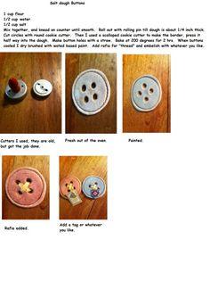 Salt dough buttons