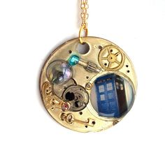 """Doctor Who Necklace """"Planetary Alignment""""  by TimeMachineJewelry"""