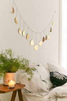 Shop Hammered Extra-Long Metal Moon Cycle Banner at Urban Outfitters today. We carry all the latest styles, colors and brands for you to choose from right here. Urban Outfitters, Farmhouse Side Table, Cute Dorm Rooms, My New Room, Living Room Designs, Bedroom Designs, Diy Home Decor, Bedroom Decor, Bedroom Inspo