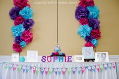 a {day} with lil mama stuart: Colorful Owl 1st Birthday Party: Decorations
