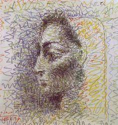 Pablo Picasso, Portrait of Jacqueline, 1957 Pablo Picasso Artwork, Picasso Paintings, Guernica, Malaga, Cubist Movement, Georges Braque, Gravure, Vincent Van Gogh, Portraits