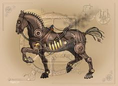 steampunk horse drawing - Google Search