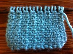 How to Knit the Linen Stitch; I love this stitch.