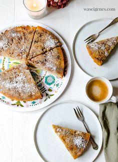 leckerer Apfelkuchen (mit Rezept) bei Bine von @waseigenes auf einem mees&mees Tablett #backen #Kaffeetafel #Apfelkuchen #meesundmees #Tablett